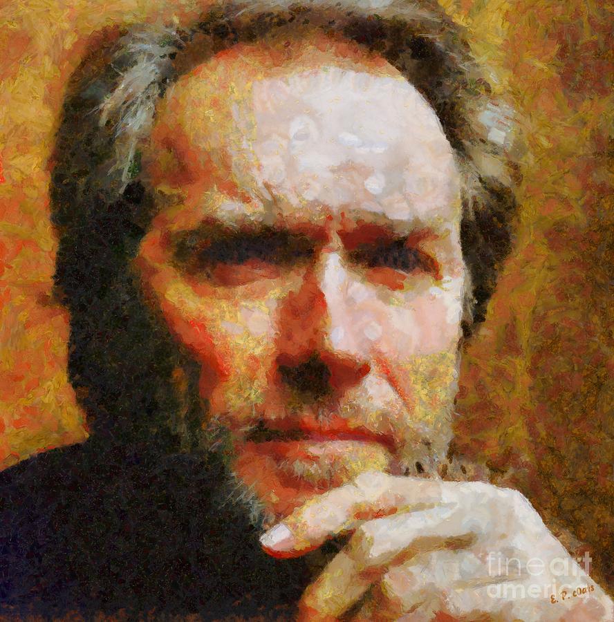 Clint Eastwood Painting - Clint Eastwood by Elizabeth Coats