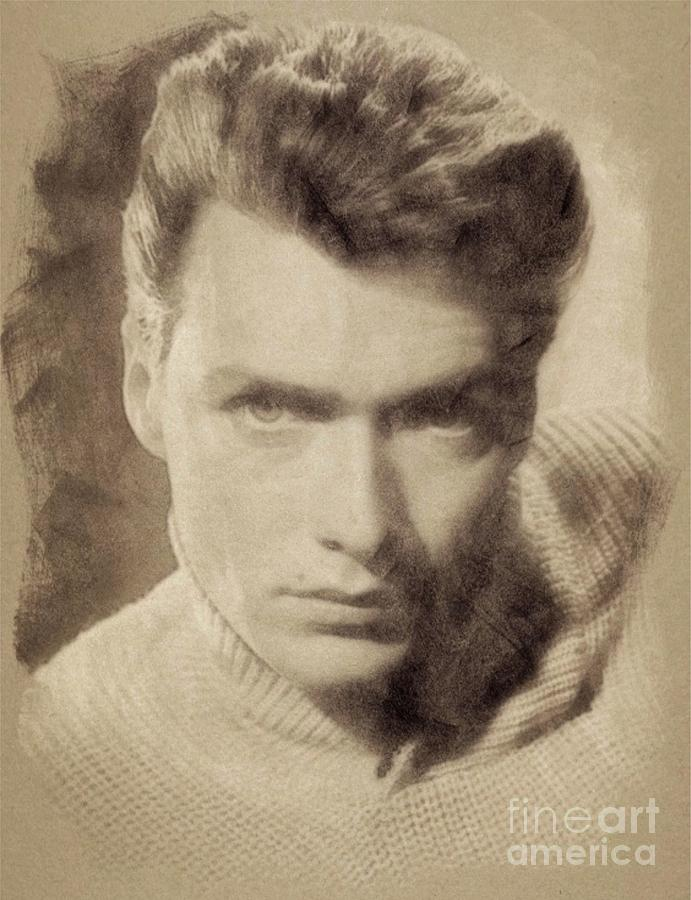 Clint Eastwood Hollywood Actor Drawing