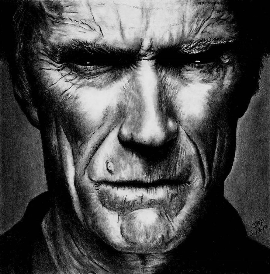 Clint Eastwood Drawing - Clint Eastwood by Rick Fortson