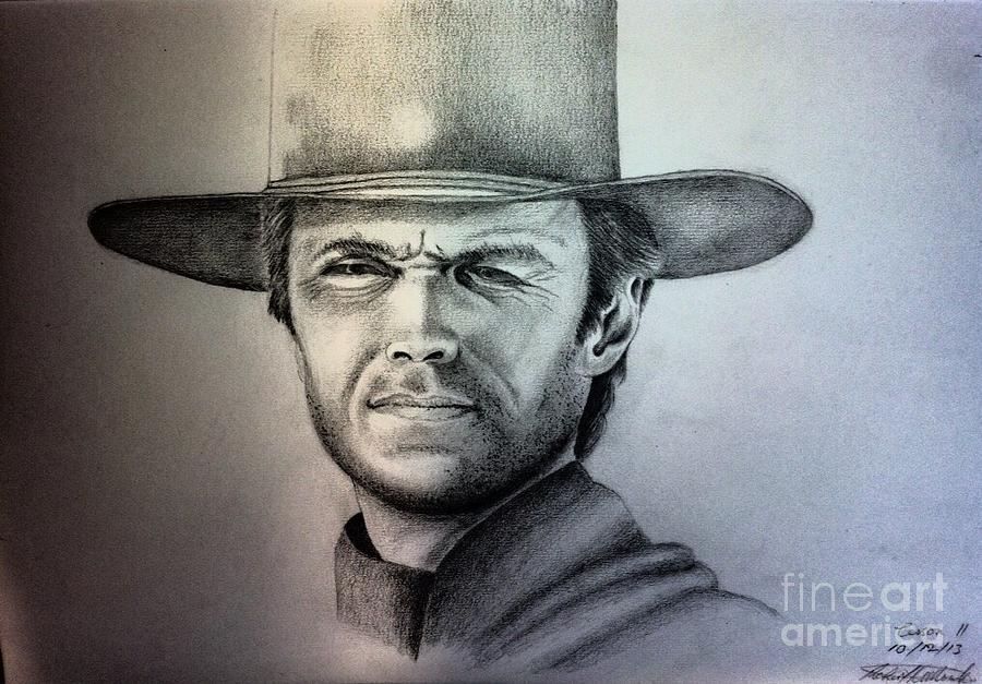Clint Eastwood Portrait  by Robert Monk