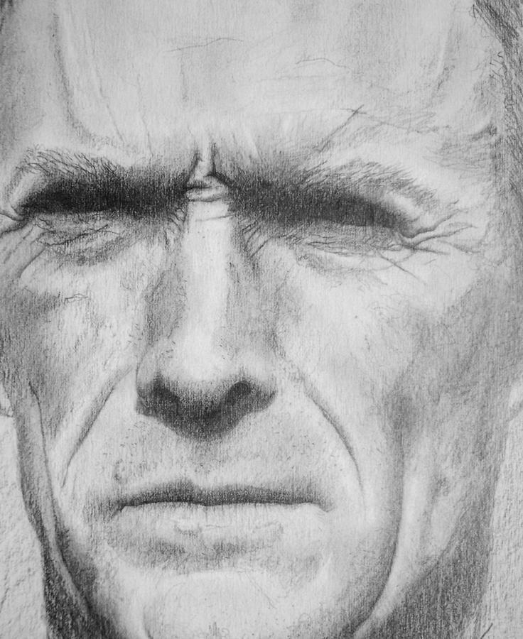 Clint Drawing by Wayne Ratti