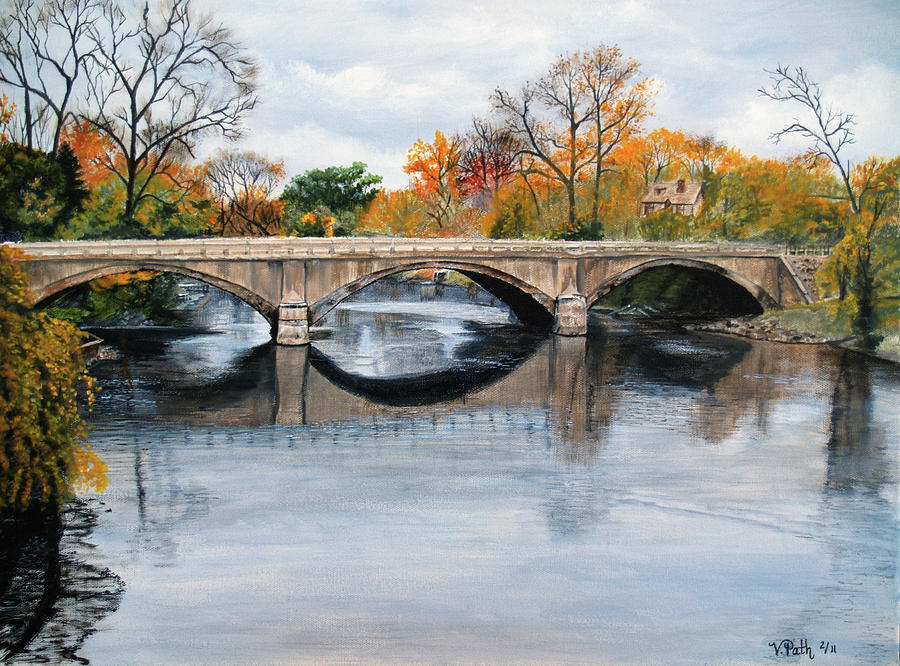 Clinton River Bridge Painting By Vicky Path