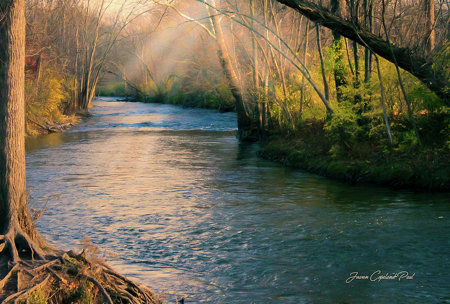 Clinton River Peaceful Waters  by Joann Copeland-Paul