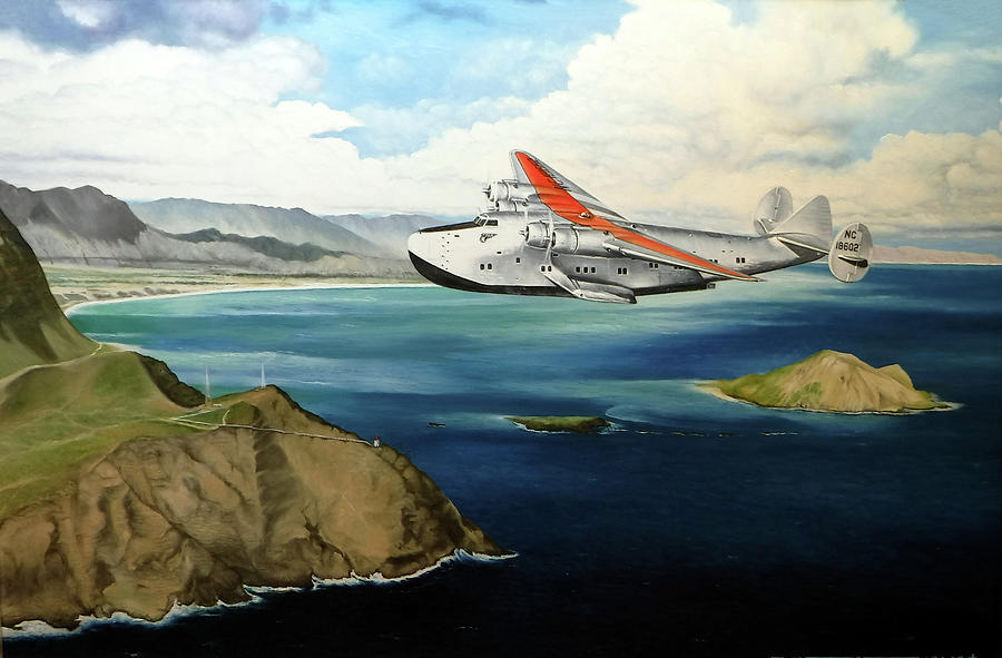 Clipper Painting - Clipper at the Makapuu Light by Marcus Stewart