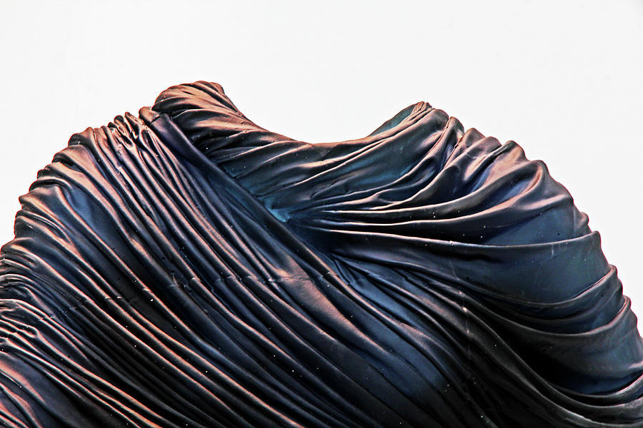 Cloaked Swirls Copper And Blues Abstract Tunic 2 8282017  Photograph by David Frederick