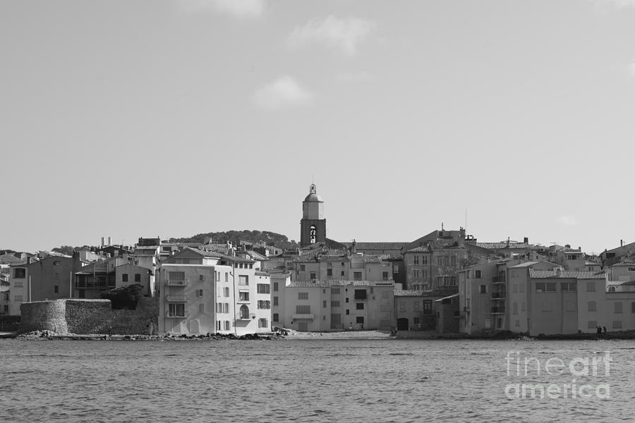 Clocher Photograph - Clocher De Saint - Tropez Vue De La Mer  by Tom Vandenhende