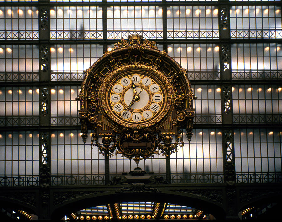 Color Photograph Photograph - Clock Musee Dorsay by Dan Albright