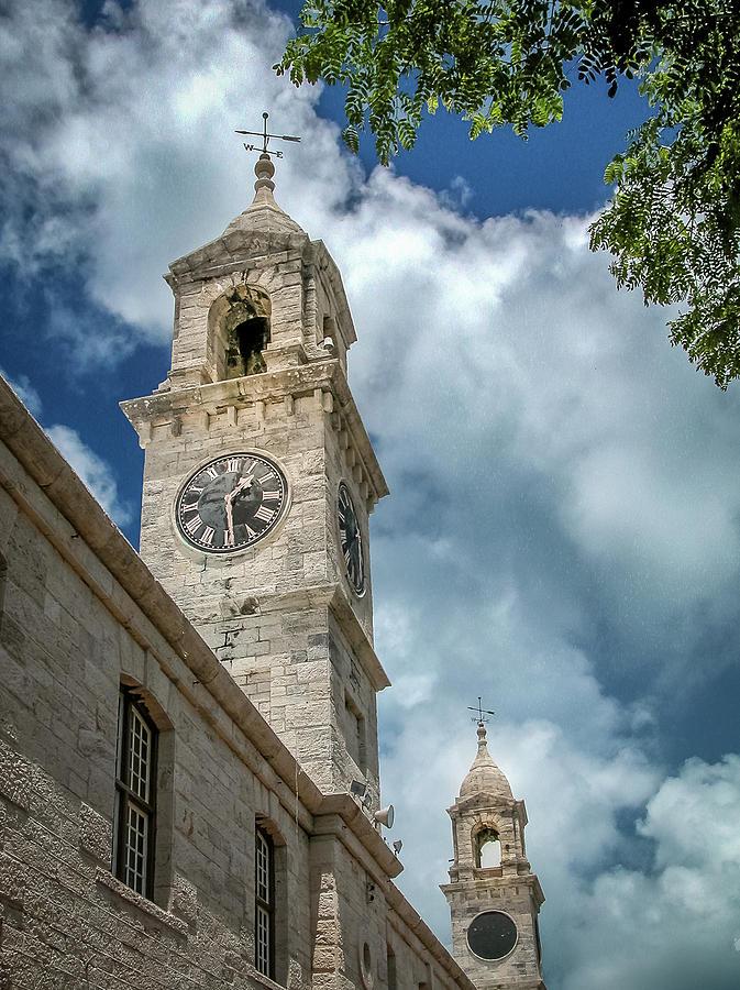 Clock Tower at Navel Dockyard - Bermuda by Frank Mari