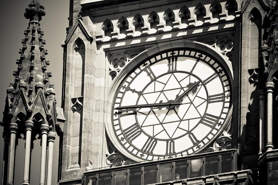Clock Tower Photograph - Clock Tower by Martina Heart