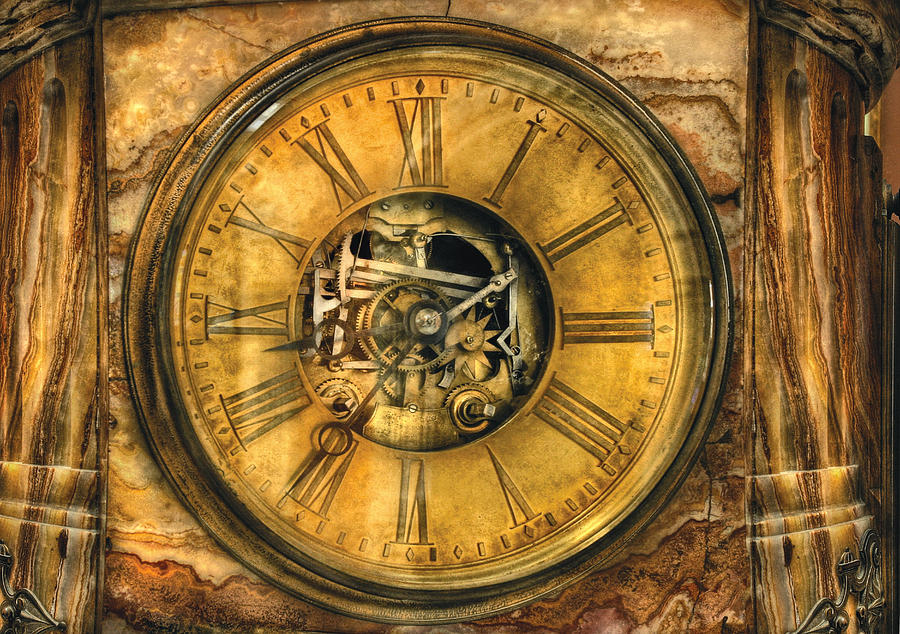 Savad Photograph - Clockmaker - Clock Works by Mike Savad
