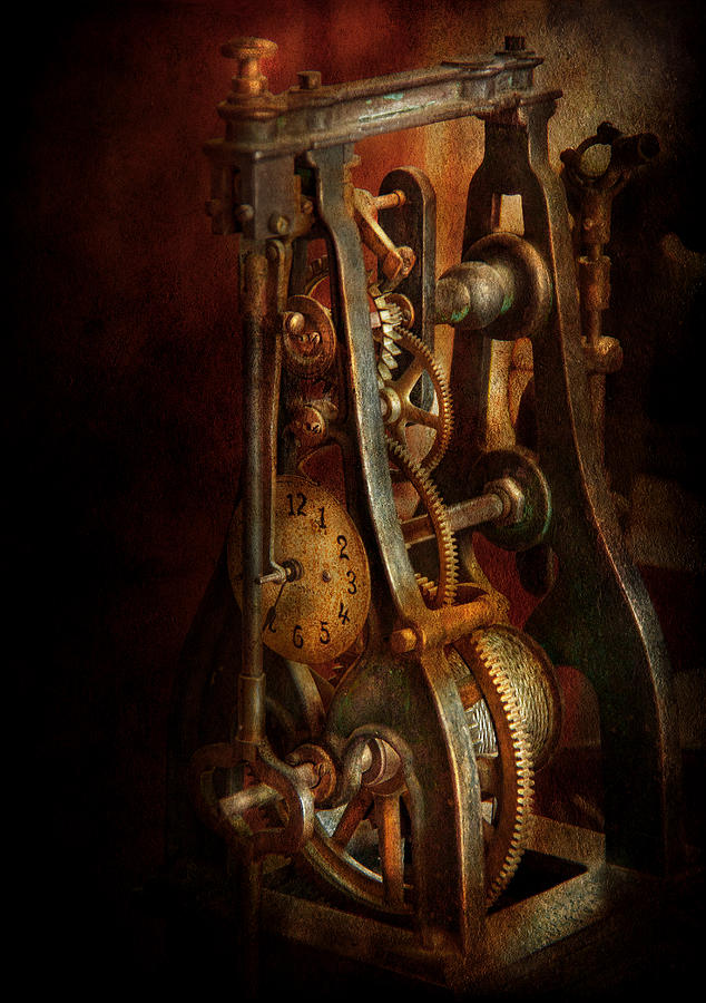 Hdr Photograph - Clockmaker - Careful I Bite by Mike Savad