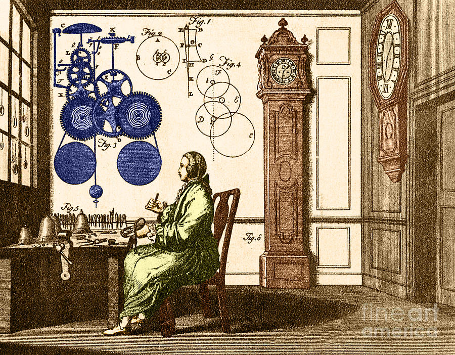 Engraving Photograph - Clockmaker by Photo Researchers