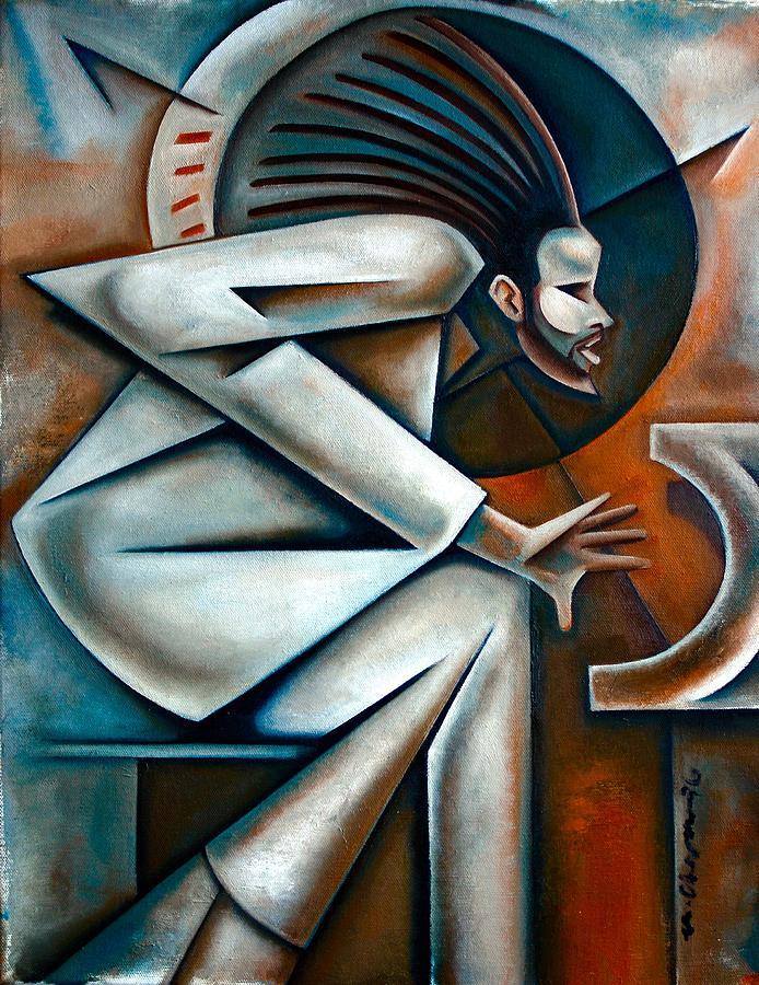 Jazz Painting - Clockwork by Martel Chapman
