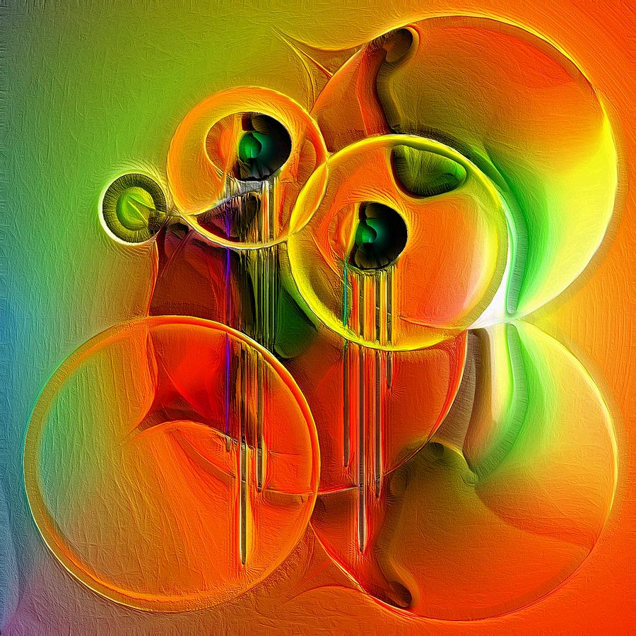 Fantasy Digital Art - Clockwork Orange by Carola Ann-Margret Forsberg