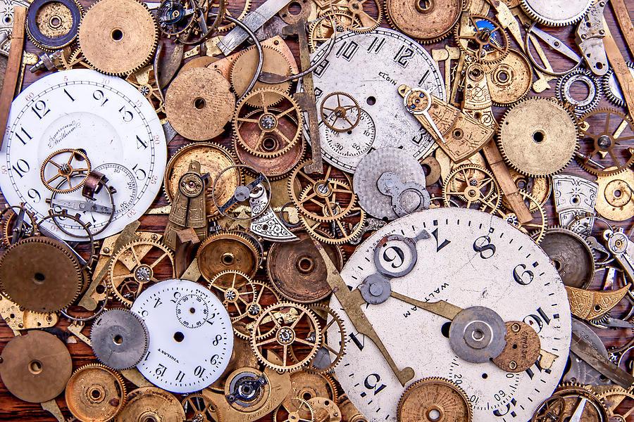 Clock Photograph - Clockworks Still Life by Tom Mc Nemar