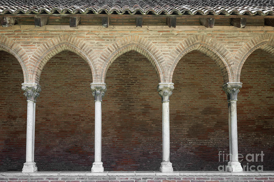 Cloister Photograph - Cloister In Couvent Des Jacobins by Elena Elisseeva