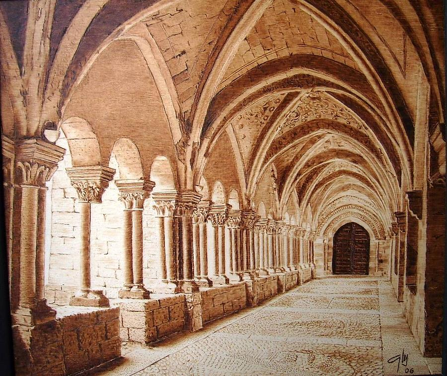 Architecture Pyrography - Cloister by Juan Carlos Gonzalez