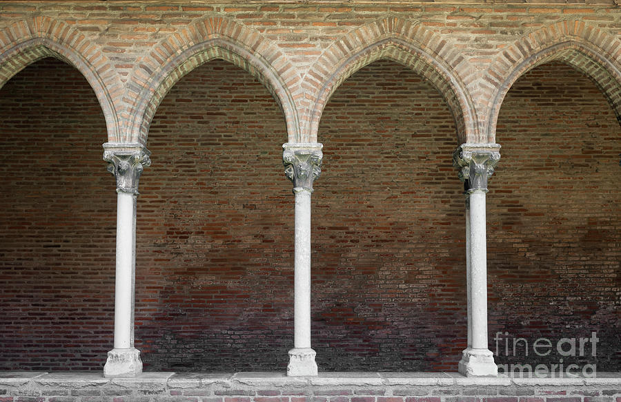 Cloister With Arched Colonnade Photograph