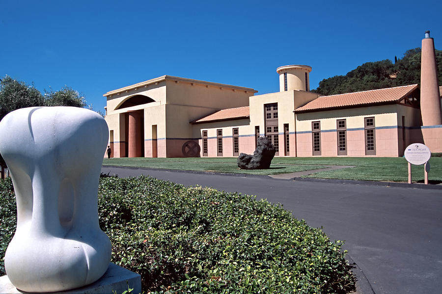 Architecture Photograph - Clos Pegase Winery Napa Valley by George Oze