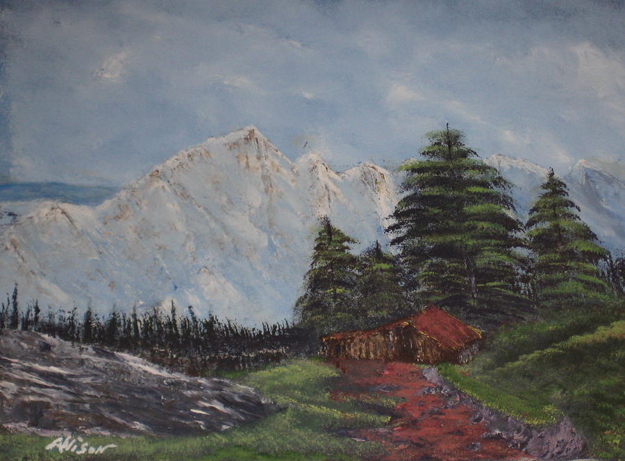 Cabins Painting - Close Encounter by Allison Prior