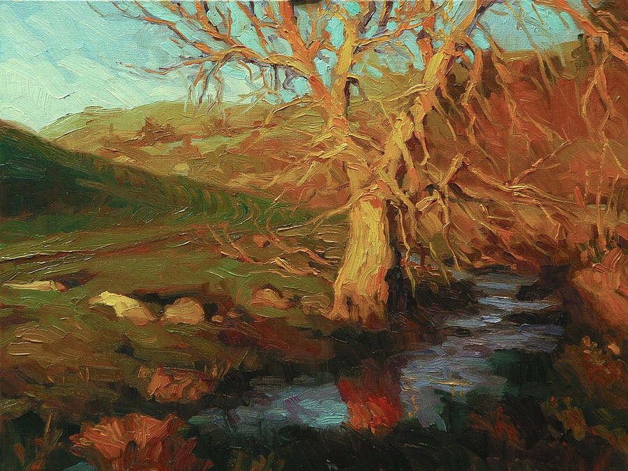 Landscape Painting - Close Of Day by Steve Henderson