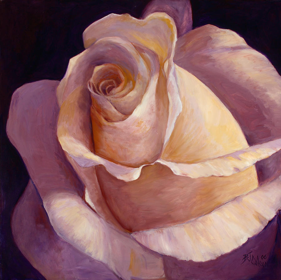 White Rose Painting - Close To Perfection by Billie Colson