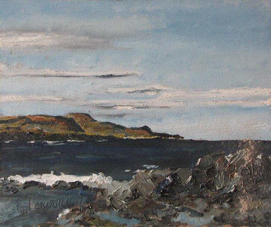 Landscape Painting - Close To Saint-anne Des Monts by Francois Fournier