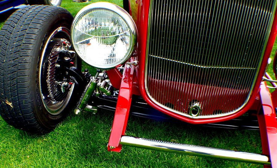 Hot Rod Photograph - Close Up by Barbara Angle