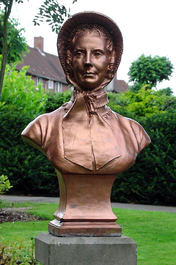 Memorial Photograph - Close-up of a Memorial to Catherine Booth by Rod Johnson
