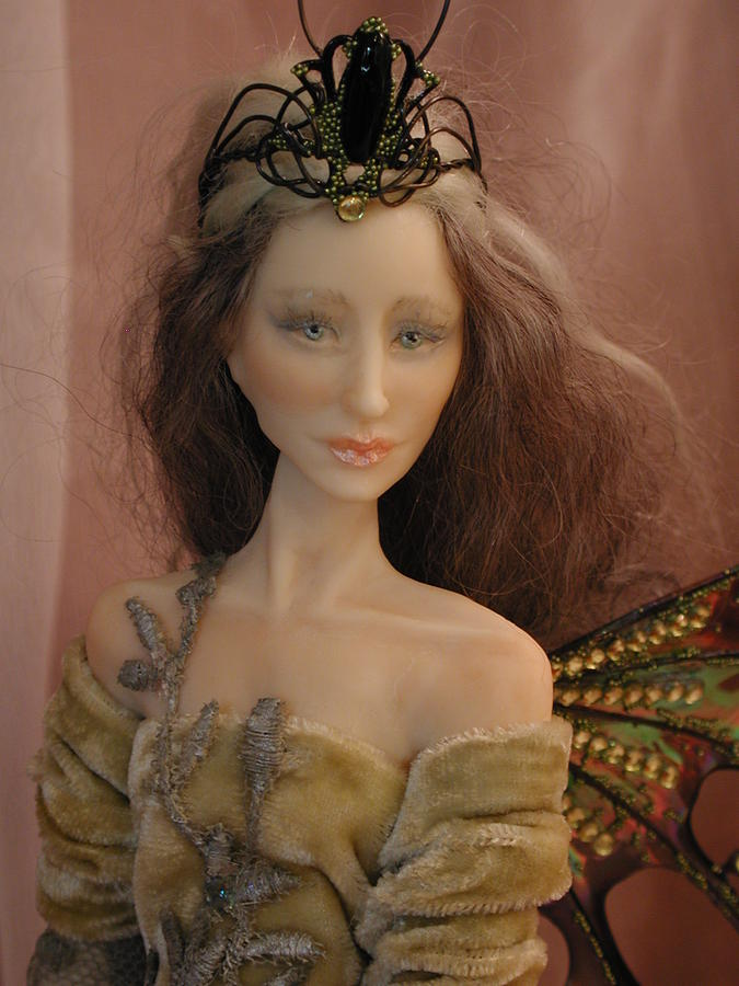 Fairy Sculpture - Close Up Of Fairy Princess by Bonnie Jones