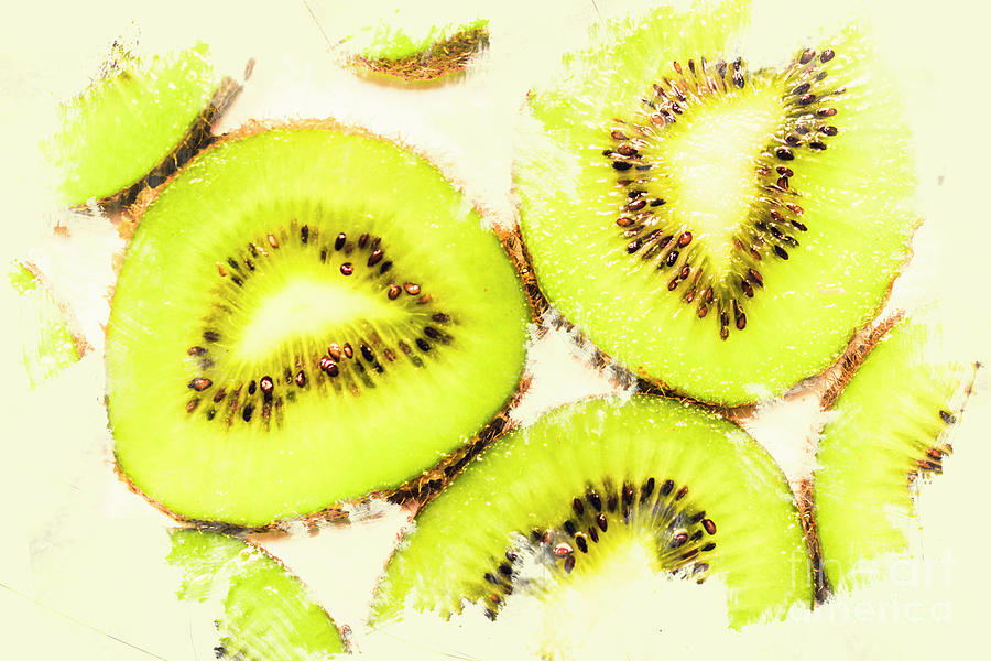 Food Photograph - Close Up Of Kiwi Slices by Jorgo Photography - Wall Art Gallery