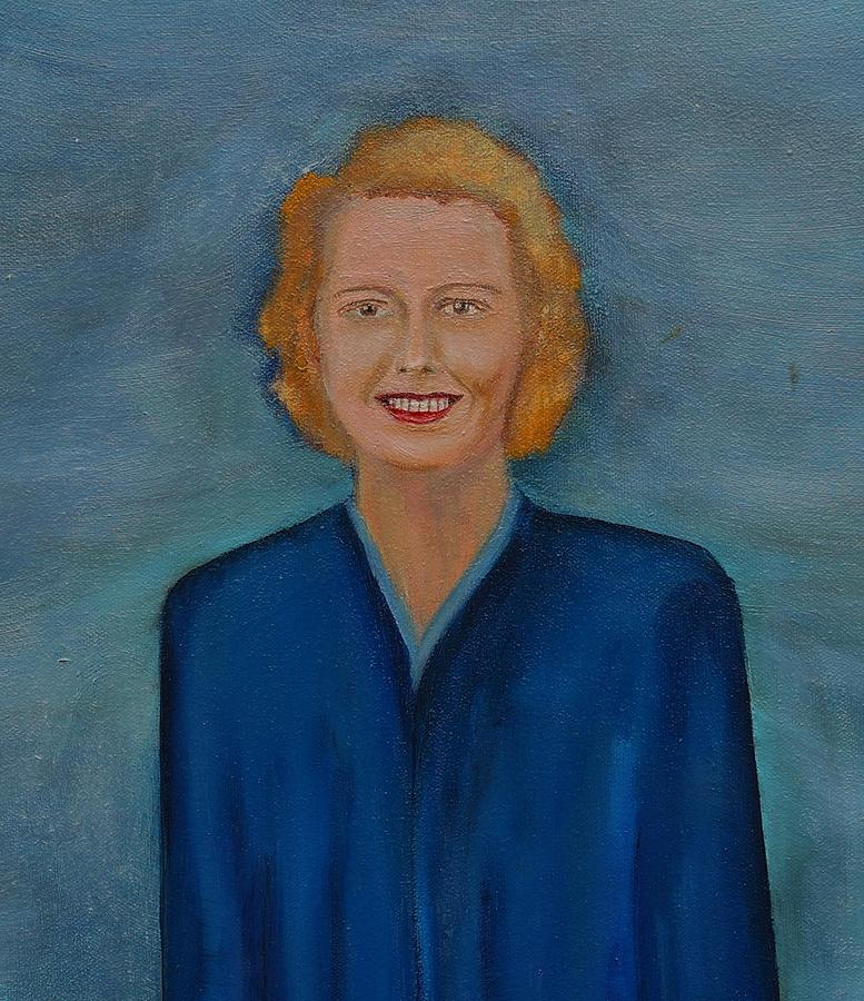 Close Up of Lady in Blue by Deborah D Russo