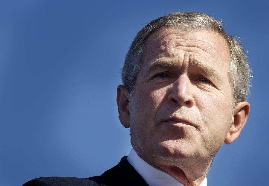 History Photograph - Close Up Of President George W. Bush by Everett
