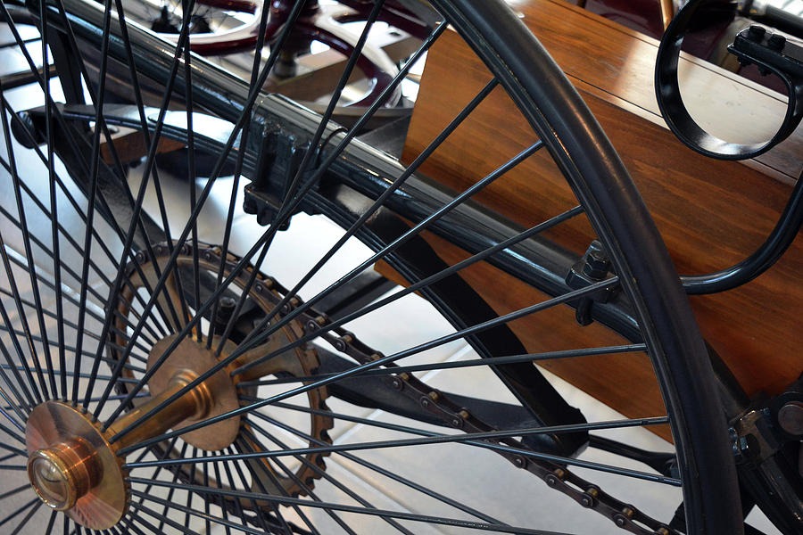 Close Photograph - Close Up On Vintage Wheel Of Bicycle  by Oana Unciuleanu