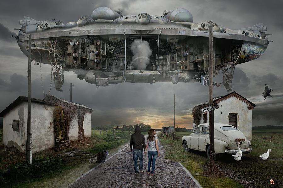 Road Digital Art - Closed by Alexander Kruglov