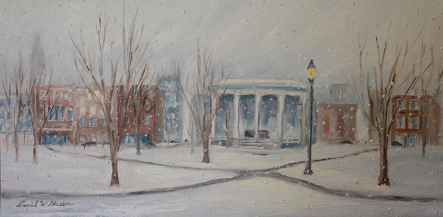 Snow Painting - Closed Sundays by Daniel W Green