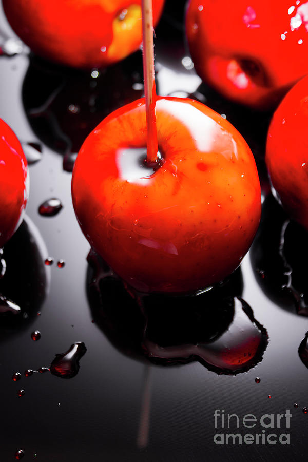 Fair Photograph - Closeup Of Red Candy Apple On Stick by Jorgo Photography - Wall Art Gallery