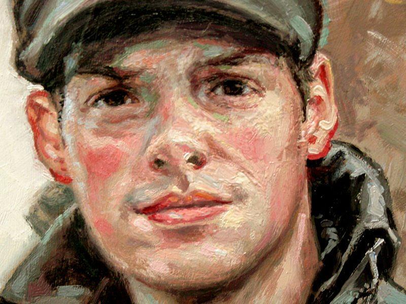 Portrait Painting - Closeup- Portrait Of Jason by Larry Seiler