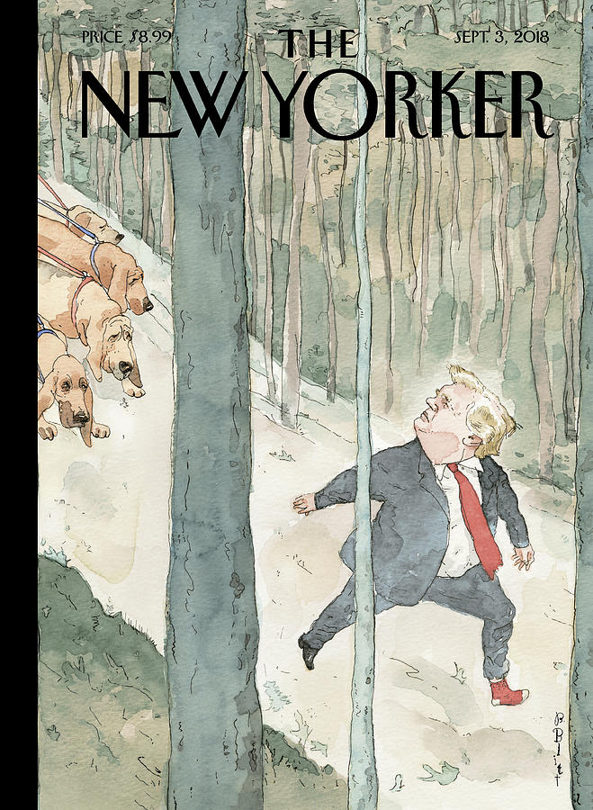 Closing In Painting by Barry Blitt