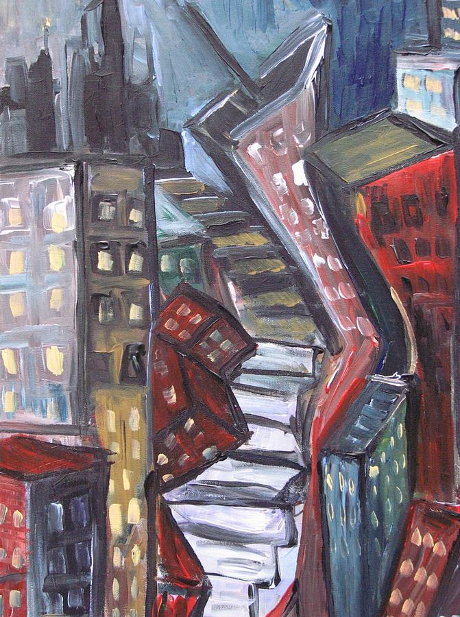 Landscape Painting - Clostridium City  by Jon Baldwin  Art
