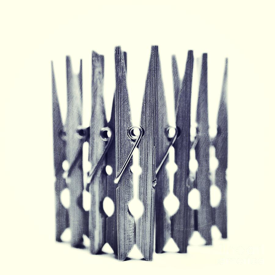 Clothespin Photograph - Clothespin by Priska Wettstein