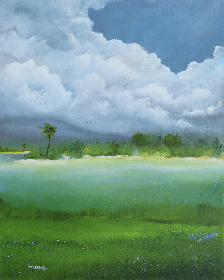 Puerto Rico Painting - Cloud Before The Storm by Alicia Maury