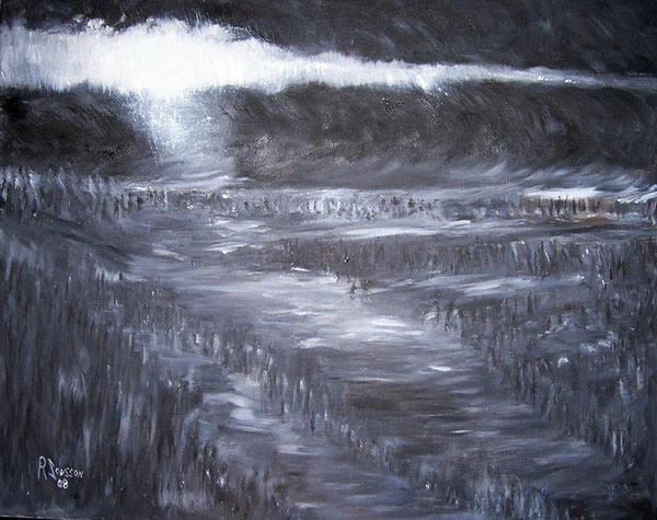 Black Painting - Cloud Break by Ragnar Jonsson