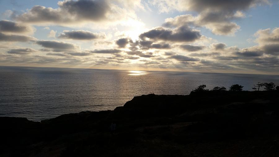 Cloud Break Sunset at  State Natural Reserve in San Diego by Heather Kirk