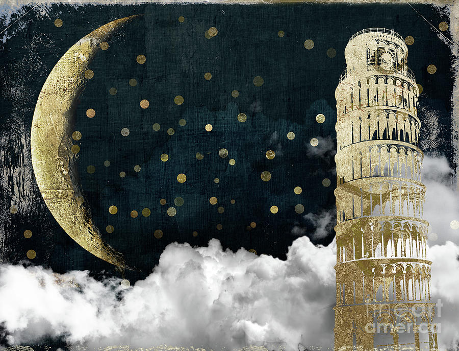 Tower Of Pisa Painting - Cloud Cities Pisa Italy by Mindy Sommers