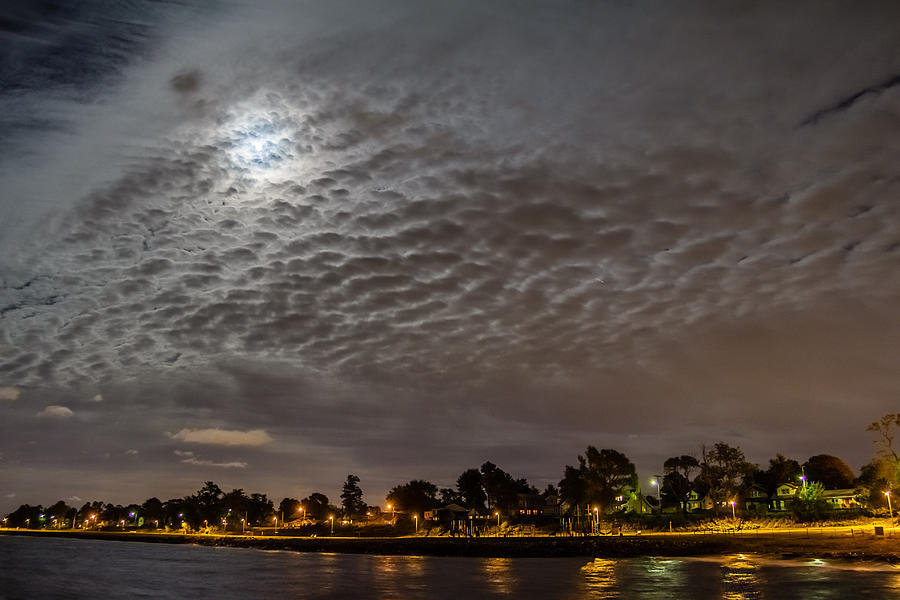 New Jersey Photograph - Cloud Covered Moon by Saurav Pandey