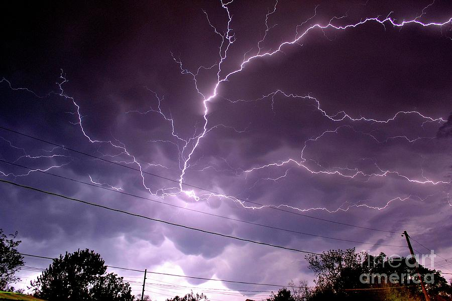 Lightning Photograph - Cloud Crawler by Brian Kalbe