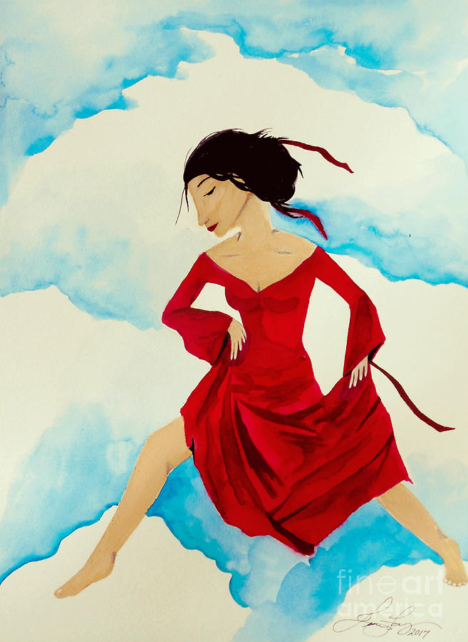 Cloud Dancer Painting - Cloud Dancing Of The Sky Warrior by Jean Fry