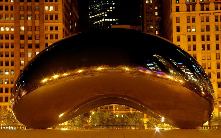 Gate Photograph - Cloud Gate At Night by Art Spectrum