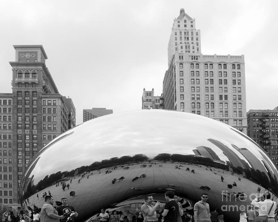Cloud Gate Photograph - Cloud Gate Chicago Bw 3 by Cheryl Del Toro